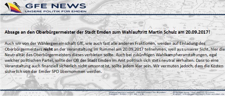 GfE News Martin Schulz