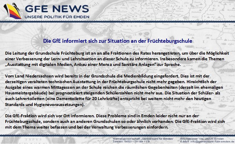 GfE News Früchteburgschule