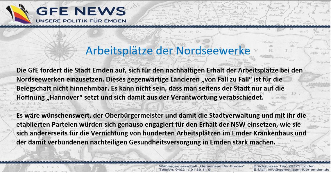 Arbeitsplätze Nordseewerke